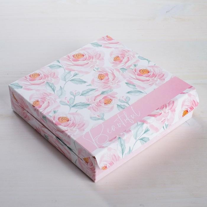 Коробка складная 'Нежность', 14 x 14 x 3,5 см (комплект из 5 шт.) - фото 1