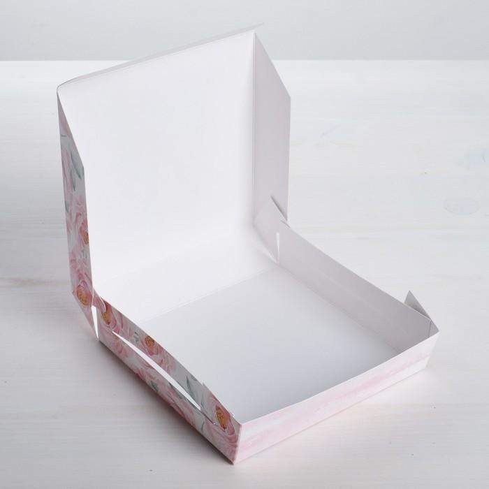 Коробка складная 'Нежность', 14 x 14 x 3,5 см (комплект из 5 шт.) - фото 2