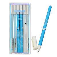 Ручка гелевая со стираемыми чернилами, стержень синий 0,5 мм, корпус МИКС (штрихкод на штуке) (комплект из 12