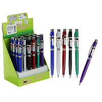 Фонарик-ручка с лазером карманный, 2 диода, цвета МИКС (комплект из 24 шт.)