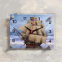 Часы настенные, серия Море, 'Корабль' стекло 20х26 см, микс