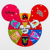 Открытка с магнитными закладками 'Для ярких идей', Микки Маус, 6 шт.