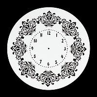 Трафарет пластик 'Винтажные часы' d25 см
