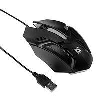 Мышь Defender Cyber MB-560L, проводная, оптическая, подсветка, 3 кнопки, 1200 dpi, черная