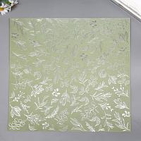 Лист бумаги с фольгированием 'Silver Branches Olive' 30,5х30,5 см (комплект из 8 шт.)