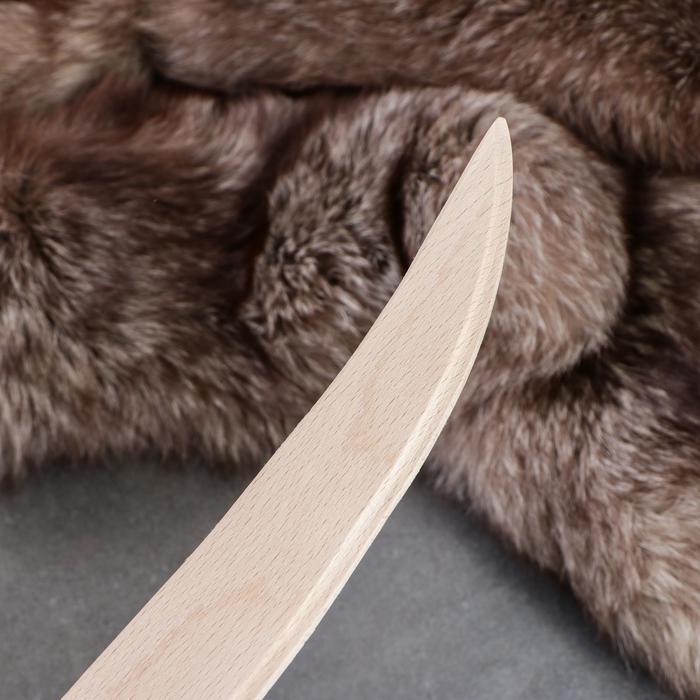 Сувенирное деревянное оружие 'Сабля', 46 см, массив бука - фото 2