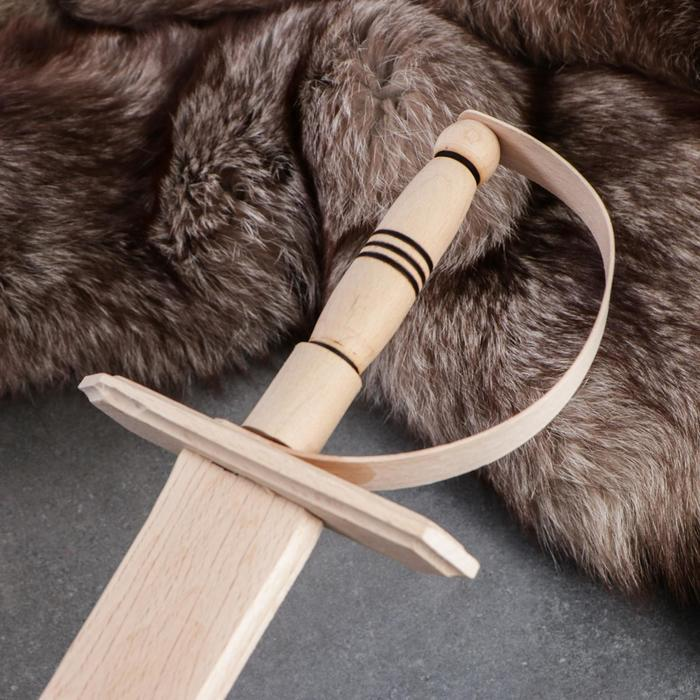 Сувенирное деревянное оружие 'Сабля', 46 см, массив бука - фото 3