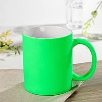 Кружка под сублимацию Доляна 'Неон', 320 мл, 11,5x8x9,5 см, цвет зелёный