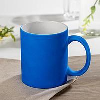 Кружка под сублимацию Доляна 'Неон', 320 мл, 11,5x8x9,5 см, цвет синий