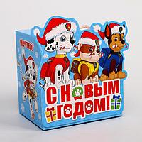 Подарочная коробка 'С Новым Годом!', PAW PATROL, 11 х 11 х 8 см (комплект из 3 шт.)