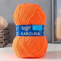 Пряжа Karolina (Каролина) 100 акрил 438м/100гр апельсин (142) (комплект из 2 шт.)