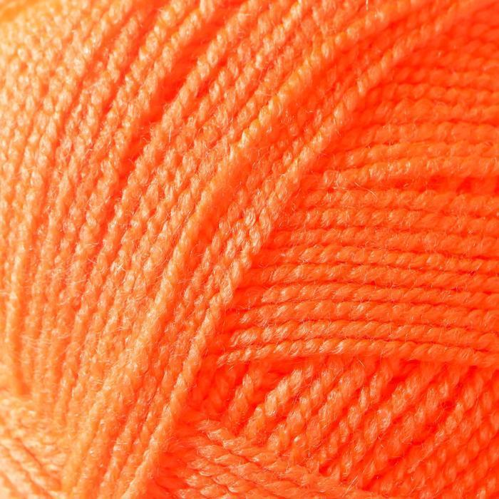 Пряжа Karolina (Каролина) 100 акрил 438м/100гр апельсин (142) (комплект из 2 шт.) - фото 3