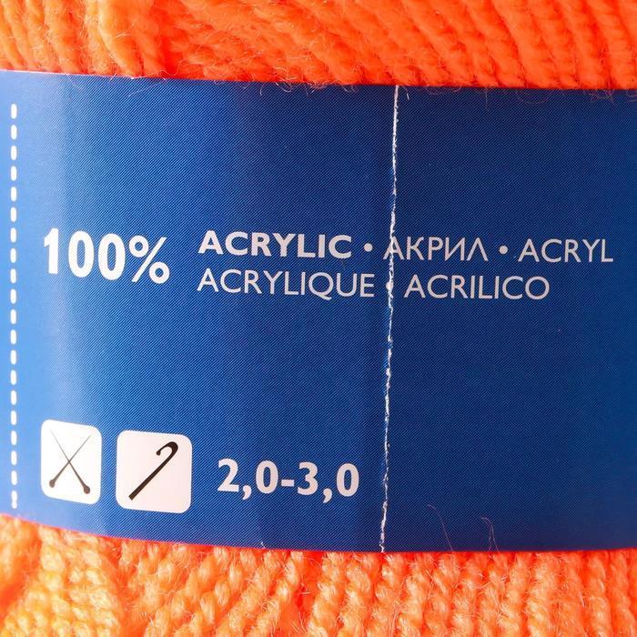 Пряжа Karolina (Каролина) 100 акрил 438м/100гр апельсин (142) (комплект из 2 шт.) - фото 4