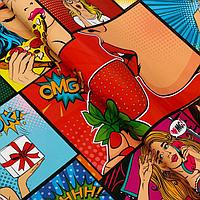 Набор бумаги упаковочной глянцевой 'pop art', 50 x 70 см, 2 листа