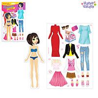 Магнитная игра 'Одень куклу городская модница'