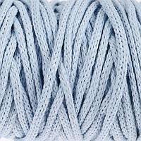Шнур для рукоделия хлопковый 100 хлопок 4 мм, 50м/140гр (голубой)