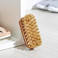 Щетка для обуви, 9x3,5 см, натуральная щетина
