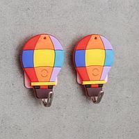 Набор крючков на липучке 'Воздушный шар', 2 шт, МИКС
