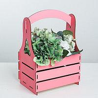 Кашпо флористическое, розовый, 15 x 21 x 31.5 см