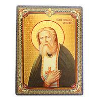 Икона 'Святой преподобный Серафим Саровский', 3D, с клеящейся основой