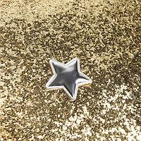 Ткань для пэчворка декоративная кожа с крупными блестками 'Искры шампанского',50х70 см