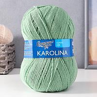 Пряжа Karolina (Каролина) 100 акрил 438м/100гр зел.ябл (122) (комплект из 3 шт.)