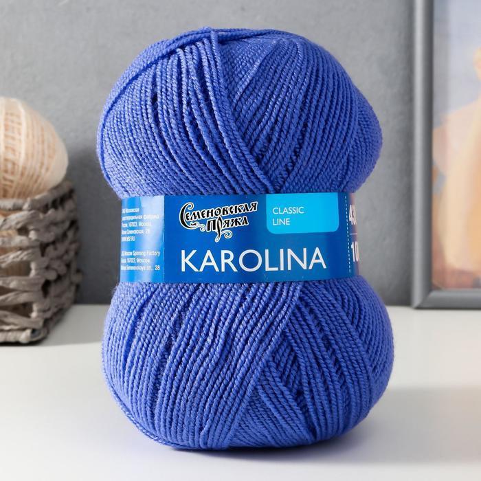 Пряжа Karolina (Каролина) 100 акрил 438м/100гр лес.эльф (1440) (комплект из 3 шт.) - фото 1