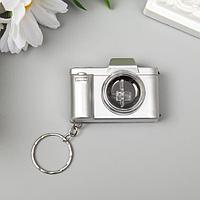 Фонарик свет на кольце 'Фотоаппарат' мигает МИКС золото/серебро 3,3х4,8х2 см (комплект из 12 шт.)