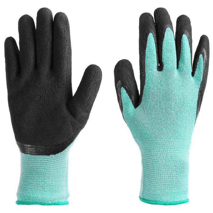 Перчатки рыболовные, резиновые, цвет бирюзовый - фото 1