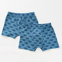 Комплект трусов для мальчика (2 шт.), цвет серый/мячи, рост 122-128 см
