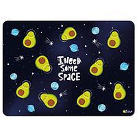 Накладка на стол пластиковая, А3, 460 х 330 мм, КН-3 500 мкм, 'Авокадо в космосе'