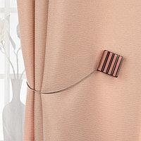 Подхват для штор 'Круг и Квадрат', 4 x 4 см, цвет коричневый