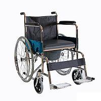 Кресло-коляска механическая FS681 с санитарным оснащением, фото 1