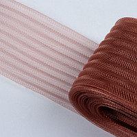 Регилин плоский, гофрированный, 70 мм, 20 ± 1 м, цвет коричневый