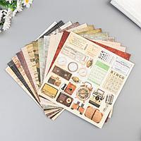 Набор бумаги для скрапбукинга 'I've got your six' 12 листов 20х20см 190гр/м2