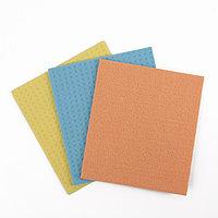 Салфетки для влажной уборки губчатые 15x17 см, целлюлоза, 3 шт