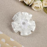 Бант для девочек с резинкой 'Иллюзия', 11 см, белый (комплект из 12 шт.)