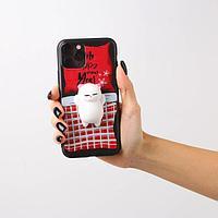 Чехол для телефона iPhone 11 pro 'Котенок', с дополнительным элементом 7,14 х 14,4 см