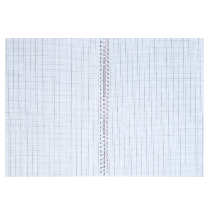 Тетрадь А4, 96 листов в клетку на гребне 'Шотландка', обложка мелованный картон, глянцевая ламинация, МИКС - фото 2