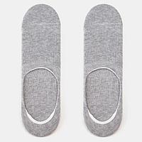 Носки-невидимки мужские, цвет светло-серый меланж, размер 27-29