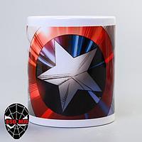 Кружка 'Щит Капитан Америка', Мстители, 350 мл