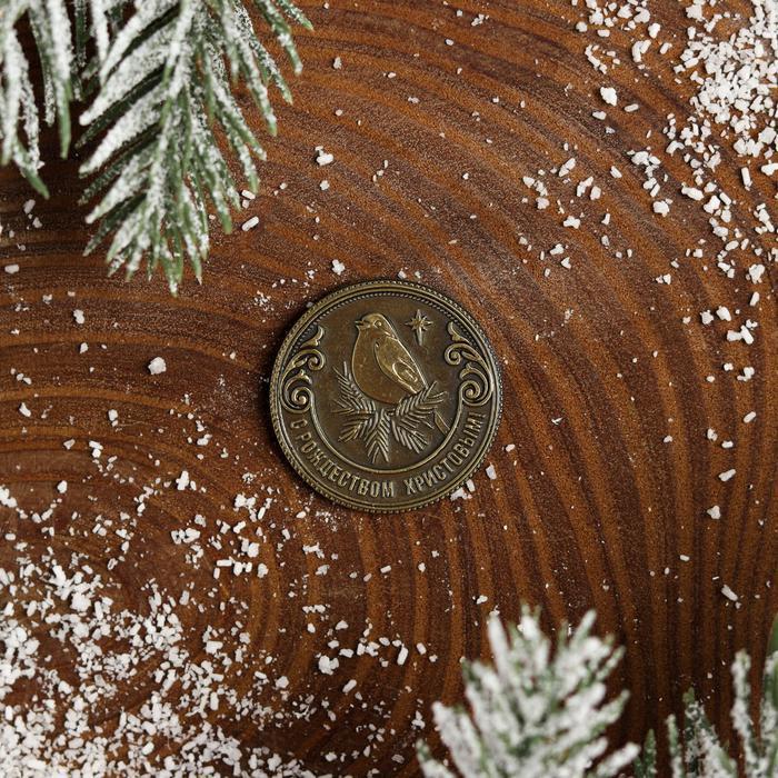 Рождественская монета-талисман 'Снегирь' - фото 2