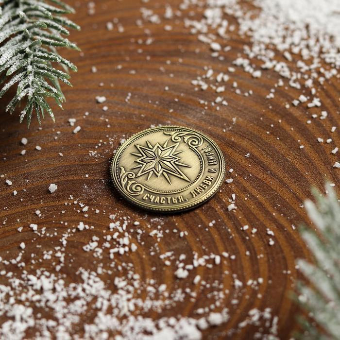 Рождественская монета-талисман 'Снегирь' - фото 4