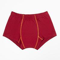 Трусы-боксеры для мальчика, цвет бордовый, рост 92 см