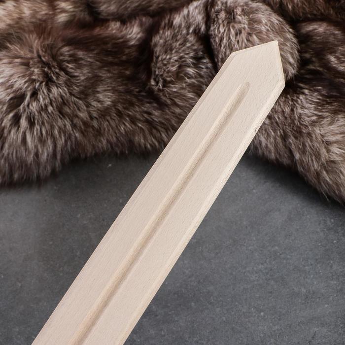Сувенирное деревянное оружие 'Меч', 57 см, массив бука - фото 2