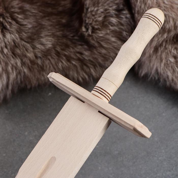 Сувенирное деревянное оружие 'Меч', 57 см, массив бука - фото 3