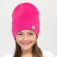 Шапка для девочки, цвет фуксия, размер 54-58