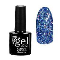 Гель-лак для ногтей 'Искрящийся бриллиант', трёхфазный LED/UV, 10мл, цвет 003 синий
