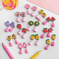 Клипсы детские 'Выбражулька' фруктики, форма МИКС, цвет МИКС