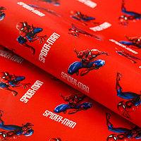 Бумага упаковочная 70х100 см, Человек-паук (комплект из 10 шт.)